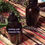Two bottles of essential oils